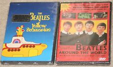 2 New/Like New The Beatles DVD's Yellow Submarine Cartoon. Around the World.