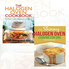 Halogen Oven Cooking Recipes 2 Book Collection Set,Cooking For One, Brand NEW PB
