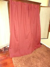JCP RUST RED HIDDEN TAB (PAIR) LINED BLACKOU PANELS CURTAINS 100% COTTON 40 X 71