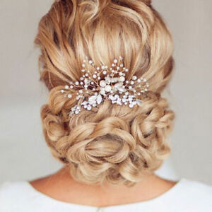 BRIDAL WEDDING CRYSTAL JEWEL DIAMANTE HAIR COMB HAIR PIECE CLIP SLIDE FASCINATOR