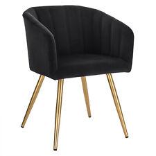 Schalenstuhl Stuhl Esszimmerstuhl Wohnzimmerstuhl Küchenstuhl Gold Weiß 4er-Set