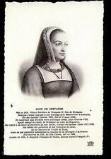 c1907 ND phot portrait Anne de Bretagne consort Louis XII royalty postcard