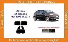pellicola oscurante vetri pre tagliata citroen c 4 picasso dal 2006 al 2013