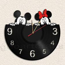 Mickey and Minnie Wall Clock Vinyl Record Clock Handmade