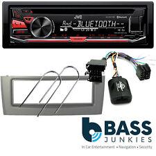 Fiat Grande Punto 2005 On JVC Bluetooth USB MP3 AUX In SWC Car Stereo Grey Kit