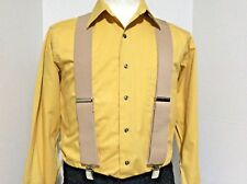 "New, Men's Tan, XXL, 2"", Adj. Suspenders / Braces, Made in the U.S.A."