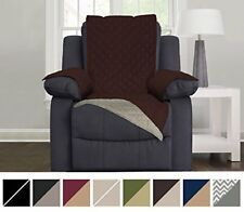 Chair Furniture Reversible Recliner Sofa Cover Protector Shield Elastic Strap