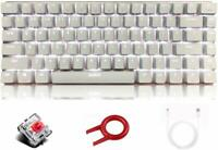 AK33 White Backlit 82 keys Gaming Keyboard for PC Gamers and Typists Mechanical