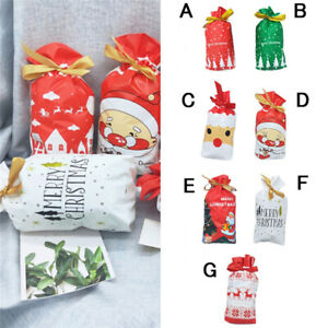 Drawstring Gift Bags Christmas Children Cookies Candy Package Elk Decor SG