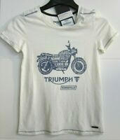 ORIGINAL Triumph Bonneville Ladies Damen Shirt beige blau NEU! Gr. XL