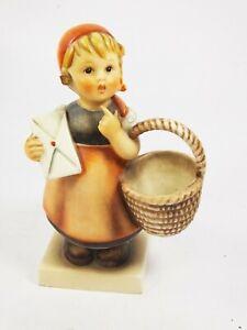 Vintage Goebel Hummel Figurine Girl With Letter & Basket Meditation