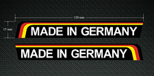 2 x 120mm x 15mm MADE IN GERMANY wing stickers/decals - Printed & Laminated