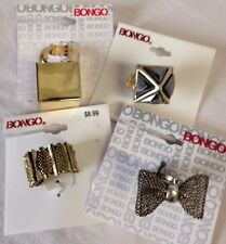 BONGO Costume Fashion Statement Rings LOT of 4 Rings - NWT