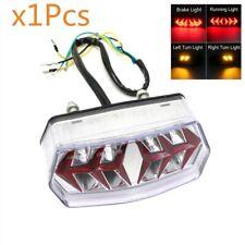 1Pcs Clear Brake Tail LED Lights Turn Signal Light Lamp Universal Fit