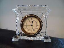 Waterford Crystal Coliseum Desk Mantel Clock Ireland Marked Original Box
