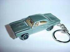NEW 3D SILVER 1970 PLYMOUTH ROAD RUNNER KEYCHAIN chain keyring HEMI mopar 70'