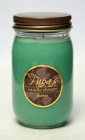 Papa's Candle Shoppe Bamboo 16 oz Mason Jar, Highly Scented Soy Wax Candles!
