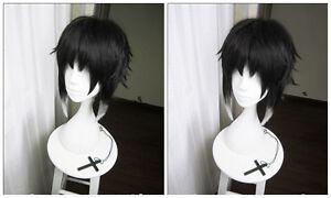 Anime Bungo Stray Dogs Akutagawa Ryunosuke Cosplay Costume Hair Wig+Free Wig Cap