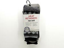 Muk Luks Men's Thermal Socks Heat Retainers Insulated One Size New! NWT