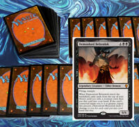 mtg BLACK CONTROL DECK Magic the Gathering rares 60 cards demonlord belzenlok