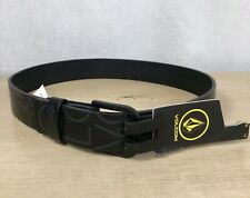 Volcom Black Draft PU Ink Faux Leather Belt Size 28 Accessory F5921601
