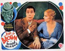 "BROAD MINDED - 1939 - Joe E. Brown & Thelma Todd   8""x10""  COLOR  Photo Reprint"