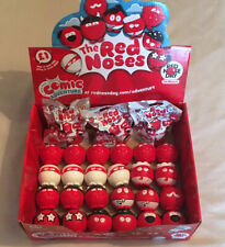 More details for red nose day 2017 - comic relief - complete set of noses + display box + extras!