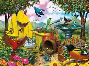 Buffalo Signature Collection Hidden Birds 1000 Pc Jigsaw Puzzle Complete