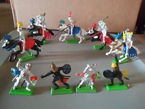 Vintage Deetail 1971 Mounted Knights Turks lot 1971 England 5 Mounted Horses