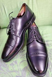 Allen Edmonds Clifton Black Leather Cap Toe Oxfords Size 9.5 D