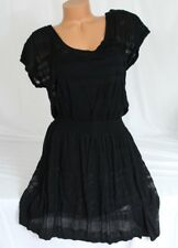 Victoria's Secret~ Viscose, Linen, Black Sweater Dress Short Sleeve sz XL