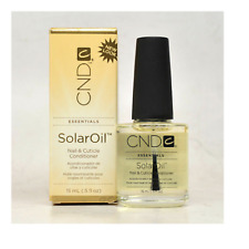 CND Essentials SOLAR OIL Nail Cuticle Conditioner Treatment .25 oz NEW BOTTLE