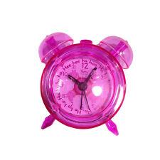 PEPPA PIG sveglia fucsia trasparente a doppia campana 8x7,5 cm da bambino/a