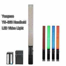 YONGNUO YN360 Handheld LED Video Light 3200k 5500k RGB Colorful + BATTERY SUIT
