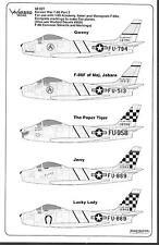 Warbird F-86 Sabre Decals 1/48 027, Korean War Part II, 5 Options