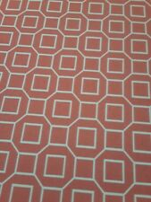 P. Kaufman Soil and Stain Resistant Fabric - Coral Geometric Pattern