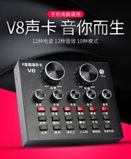 V8 Sound Card Support Dual Mobile 12 Sound Effects for Live Online Singing