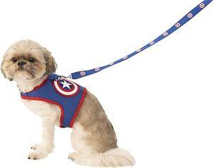 Captain America Harness Marvel Superhero Fancy Dress Halloween Pet Dog Costume