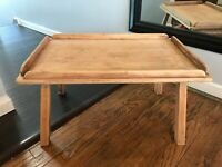 Mid Century Danish Minimalist American Maple Short Coffee Side Table Nightstand