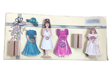 Vintage New Bride Wooden Paper Doll Bethany Farms 1995 Non smoking