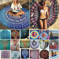 Bohemian Mandala Round Beach Tapestry Hippie Throw Mat Towel Blanket Indian