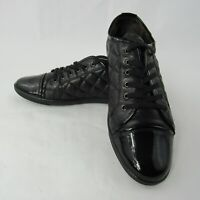 AGL Attilio Gisuti Leombruni 39 EUR 9 US Quilted Leather Lace Up Shoes Black
