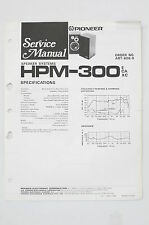 PIONEER HPM-300 Orig. Haut-parleur Système manuel de Service/Manuelle/
