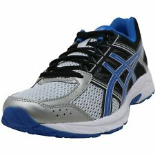Asics Men's Gel-Contend 4 Silver/Classic Blue Ankle-High Running Shoes - 7.5M