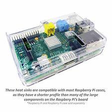 3PCS One Set Aluminum Heatsink Cooler Adhesive Kit for Cooling Raspberry Pi SD