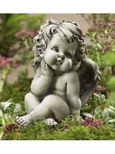 Engel  Skulptur 11-90119 Dekoration Resin Garten Terrasse Grab Figur Gartendeko