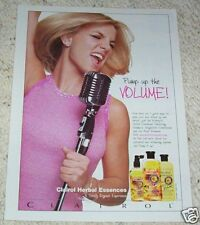 2000 ad page - BRITNEY SPEARS Clairol Herbal Essences hair PAPER Print AD