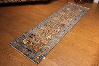 "Hall-Runner 2'7"" x 9' Fine Handmade Hand-knotted Bakhtiari Design Rug"