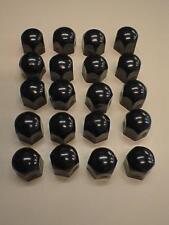 Black High Gloss Stainless Steel Wheel Nut Covers 19mm fits CHRYSLER