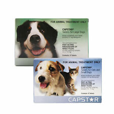 Capstar Tablets Cats Dogs Flea treatment effective, 2 sizes Brand New Free P&P.